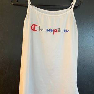 White Champion Tank Top